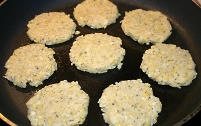 Chick Pea Patties Step 11 - Mostly Meatless Almost Vegetarian Recipes