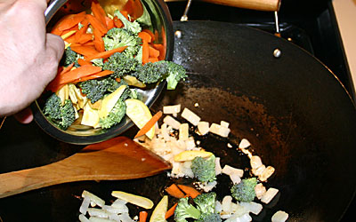 Bowtie Pasta Primavera Step 8 - Mostly Meatless Almost Vegetarian Recipe