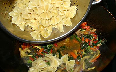 Bowtie Pasta Primavera Step 13 - Mostly Meatless Almost Vegetarian Recipe