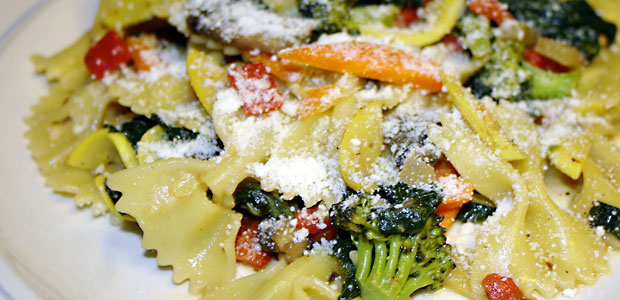 Bowtie Pasta Primavera - Mostly Meatless Almost Vegetarian Recipes