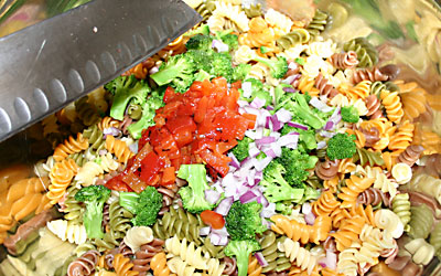 Pasta Salad - Step 7 - Mostly Meatless Almost Vegetarian Recipes