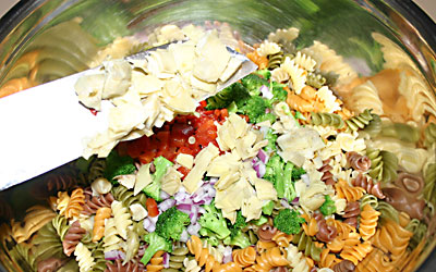 Pasta Salad - Step 8 - Mostly Meatless Almost Vegetarian Recipes