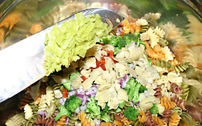 Pasta Salad - Step 9 - Mostly Meatless Almost Vegetarian Recipes
