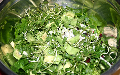 Walnut Cranberry Spinach Salad Step 3 - Mostly Meatless Almost Vegetarian Recipes