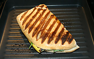 Grilled Vegetable Panini Step 11 - Mostly Meatless Almost Vegetarian Recipes