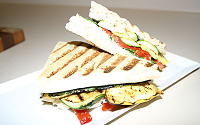 Grilled Vegetable Panini Step 13 - Mostly Meatless Almost Vegetarian Recipes