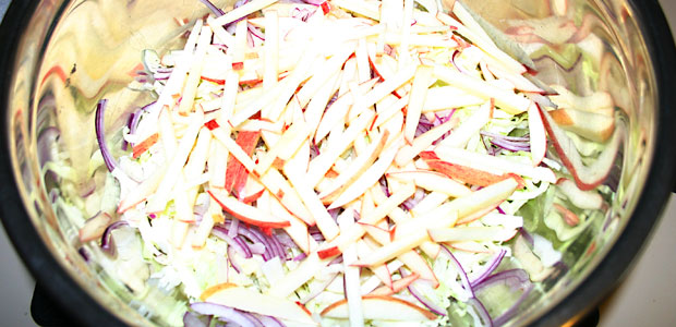 Apple Slaw - Mostly Meatless Almost Vegetarian Recipe