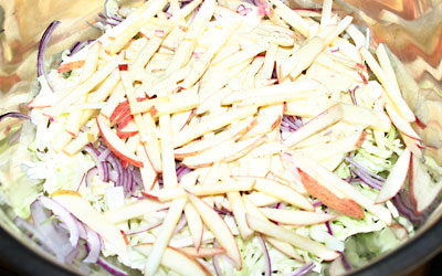 Apple Slaw Step 5 - Mostly Meatless Almost Vegetarian Recipes