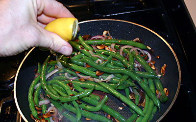 Green Bean Almondine Step 7 - Mostly Meatless Almost Vegetarian Recipes