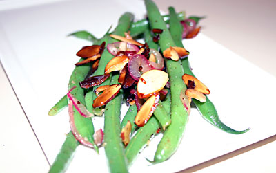 Green Bean Almondine FINAL - Mostly Meatless Almost Vegetarian Recipes