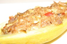 Stuffed Summer Squash - Mostly Meatless Almost Vegetarian Recipe