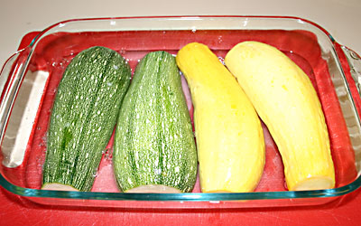 Stuffed Summer Squash Step 4 - Mostly Meatless Almost Vegetarian Recipes