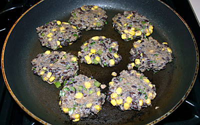 Blackbean and Corn Patties Step 9 - Mostly Meatless Almost Vegetarian Recipes
