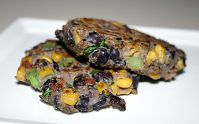 Blackbean and Corn Patties FINAL - Mostly Meatless Almost Vegetarian Recipes