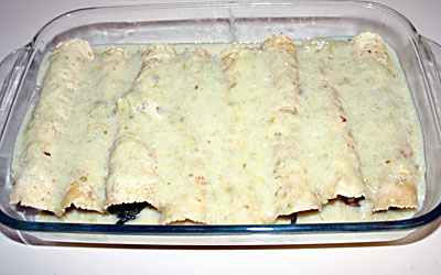 Mushroom Enchiladas Step 13 - Mostly Meatless Almost Vegetarian Recipes
