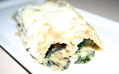 Mushroom Enchiladas Final - Mostly Meatless Almost Vegetarian Recipes